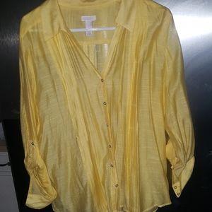 classy yellow blouse